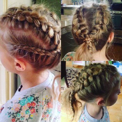 trenzados niñas peinados