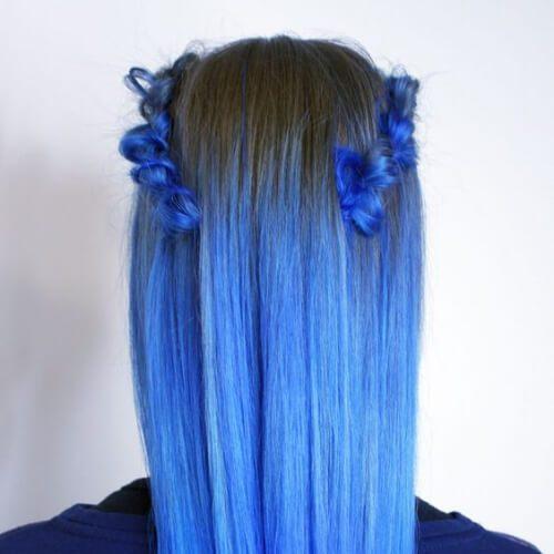 peinados añil para el pelo lacio
