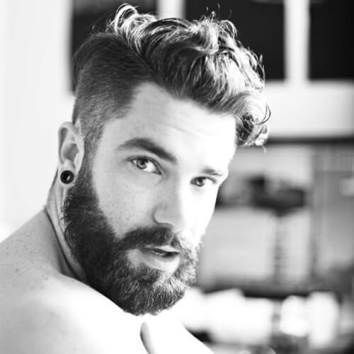 Peinados para hombres con cabello grueso y caras redondas