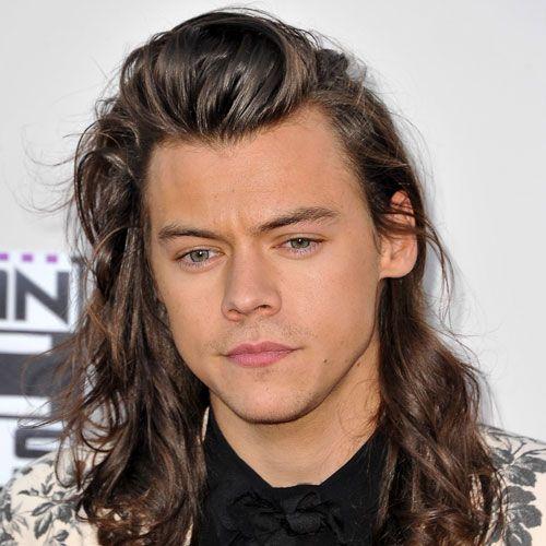 peinados largos ondulados / rizados para hombres