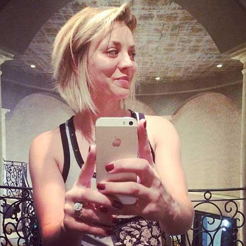 Kaley Cuoco nuevo corte de pelo de la celebridad