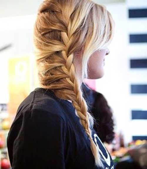 Trenza francesa en cabello largo