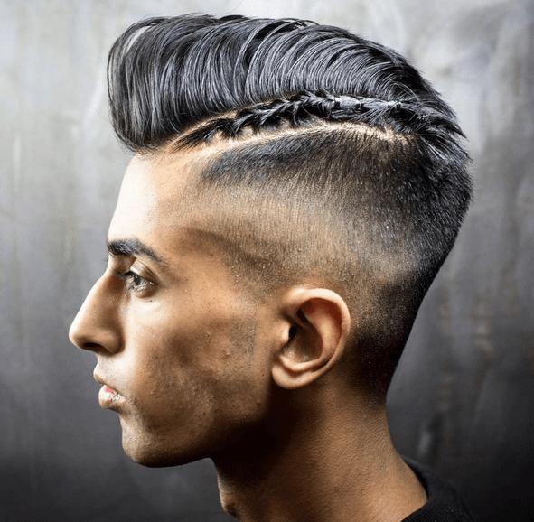 Peinado afeitado y trenzado para cabello grueso