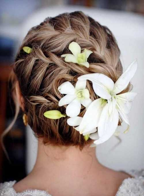 Wedding Beach Updos con trenzas
