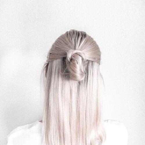 peinados plateados blancos para cabello lacio