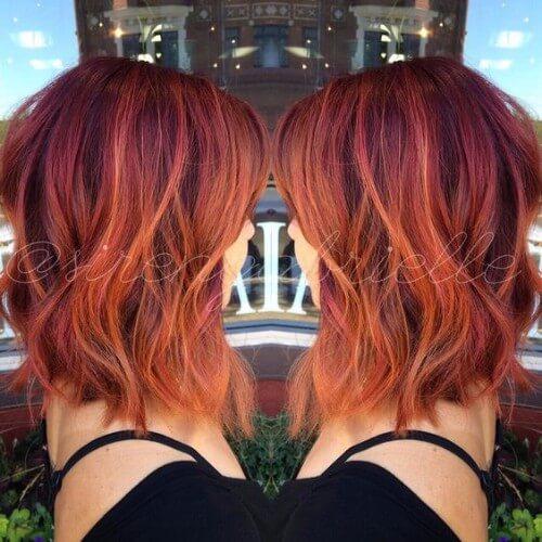 Auburn con reflejos naranja
