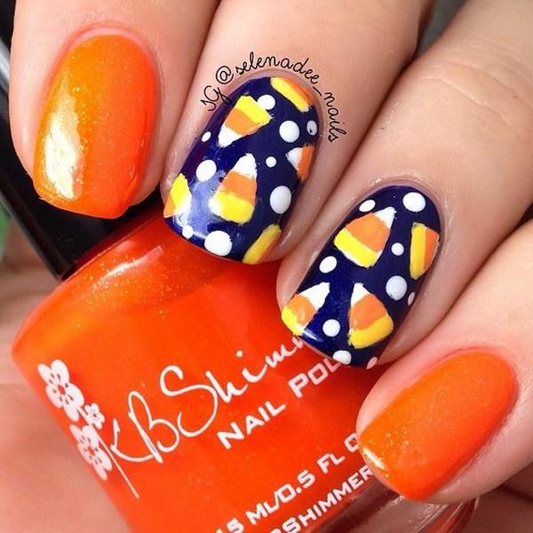 Cute Candy Halloween Nails. Ideas de arte de uñas de Halloween.