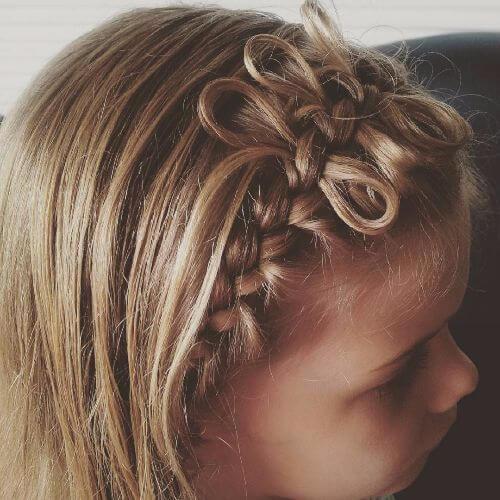 peinado de arco trenzado