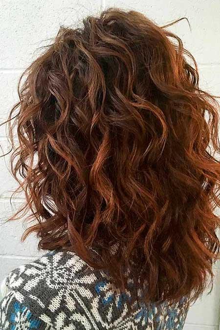 20 Bonitos Peinados Rizados Para El Pelo Medio 187 Largo