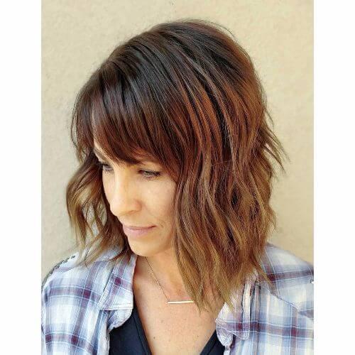 pelo corto con colores de pelo caramelo