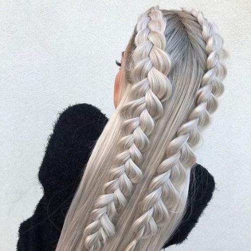 doble francés peinados rubios