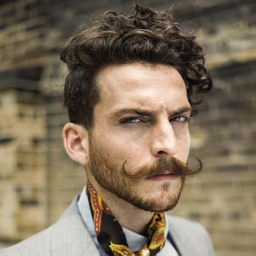 Peinados modernos para hombres con bigotes