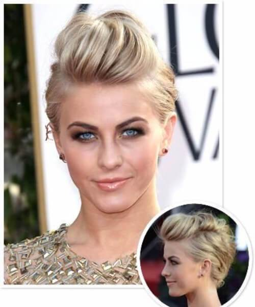 Julianne Hough largo corte pixie