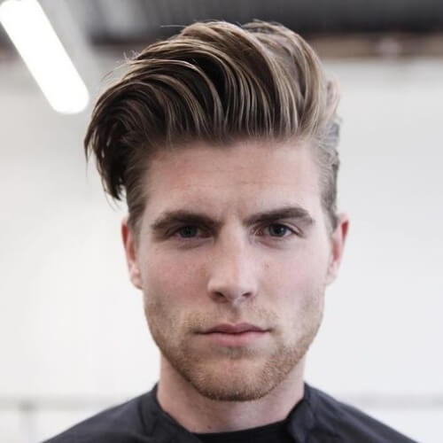 Lado peinado grueso peinado