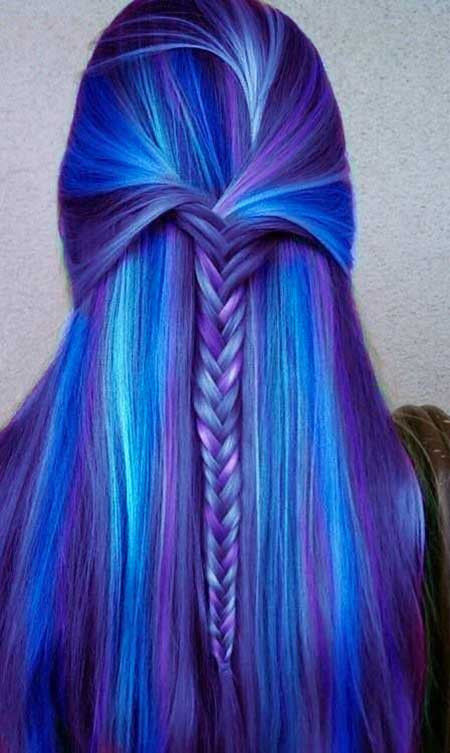 11 colores púrpuras del pelo de la sirena que te encantará » Largo ...