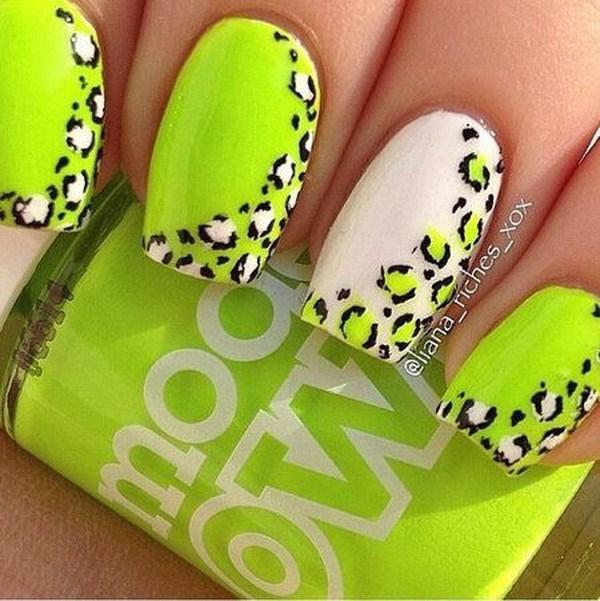 50 elegantes diseños de uñas de leopardo y guepardo » Página 2 de 2 ...