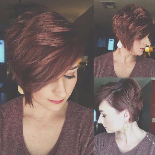 desordenado peinado corto