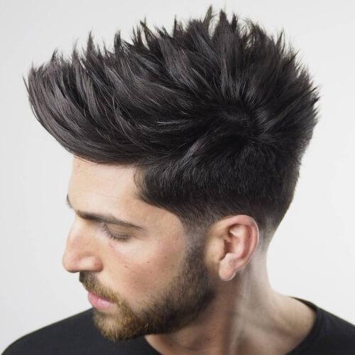 Peinados de punta en capas