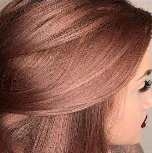 color del pelo balayage oro rosa oscuro