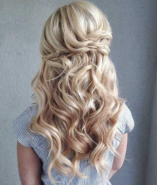 Half Up Long Hairdos para la boda