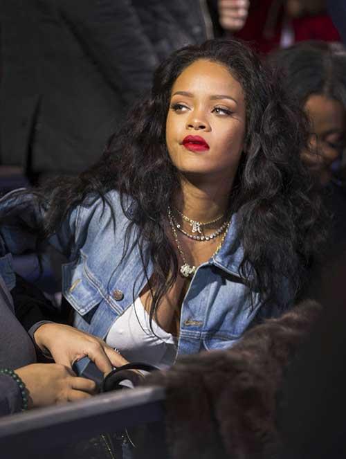 Rihanna largo rizado tejer peinado