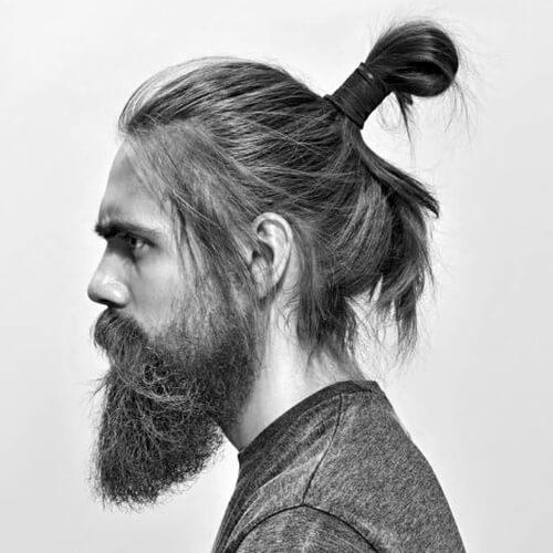 Peinado de moño Samurai
