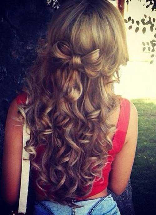 Lindos y largos peinados rizados-18