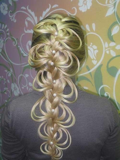 Bonitos peinados trenzados de lujo