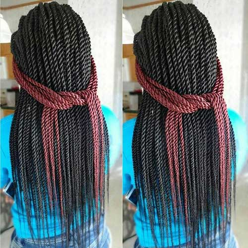 Negro mujer senegaleses peinados trenzas