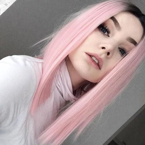 peinados rosas para peinados rectos para cabello lacio