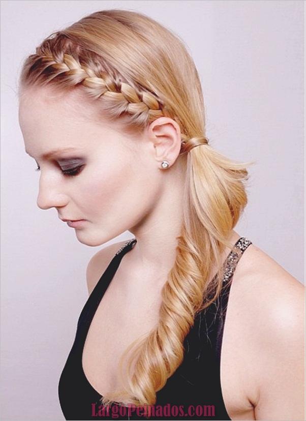 Peinados de cola de caballo laterales atractivos para niñas (16)