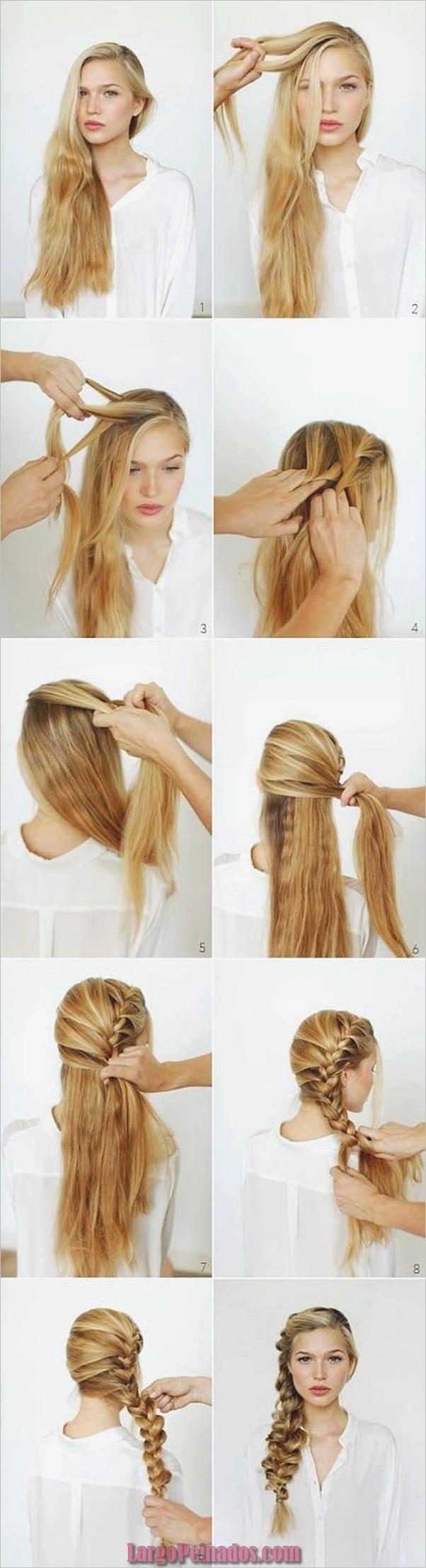 Peinados fáciles paso a paso para cabello largo7