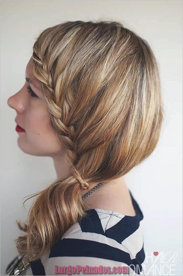 Peinados de cola de caballo laterales atractivos para niñas (4)