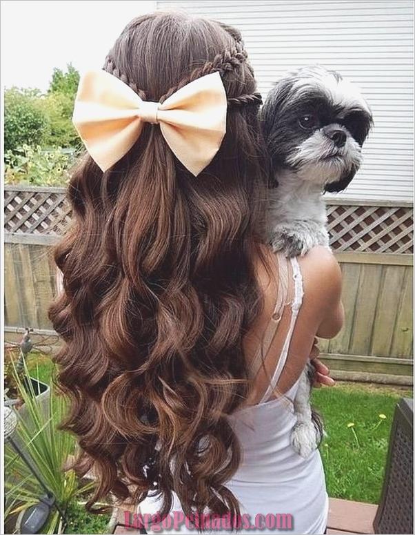 peinados de fiesta para cabello largo-2