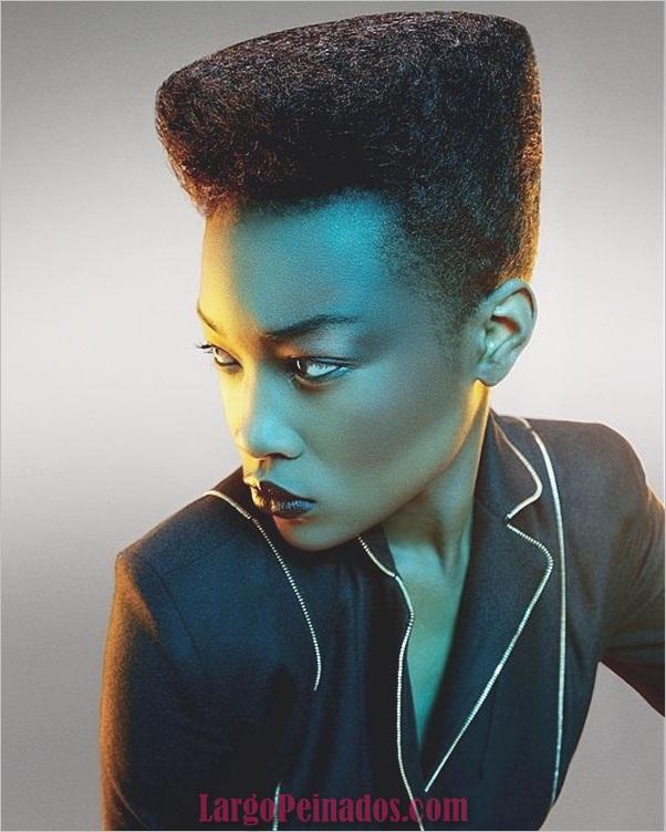 Peinados Rizados Cortos para Mujer Negra (2)
