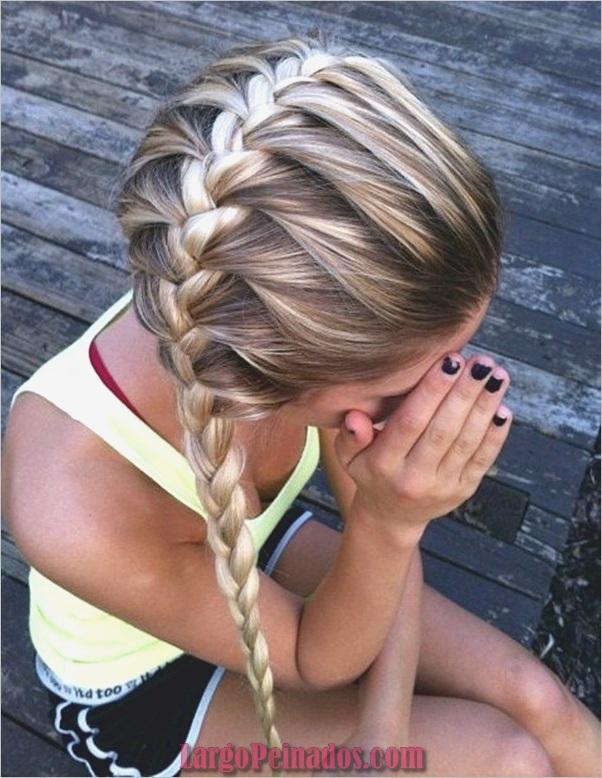 Últimos peinados simples para niñas para la escuela (18)