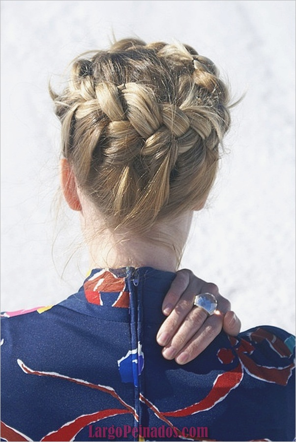 Peinados trenzados simples para cabello largo (12)