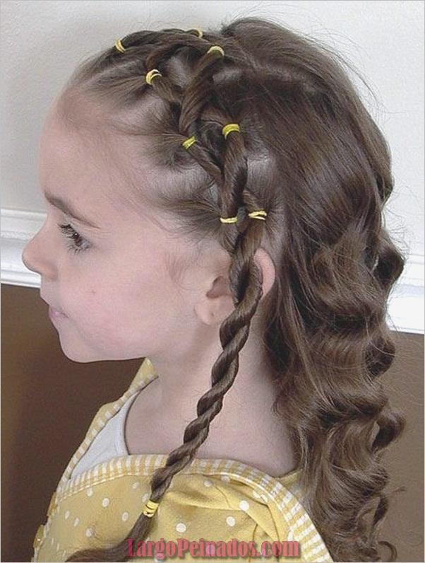Últimos peinados simples para niñas para la escuela (16)