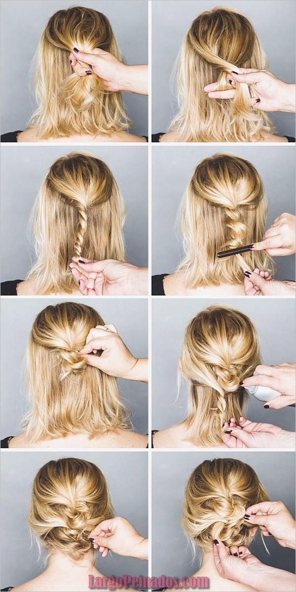 Peinados fáciles paso a paso para cabello largo14