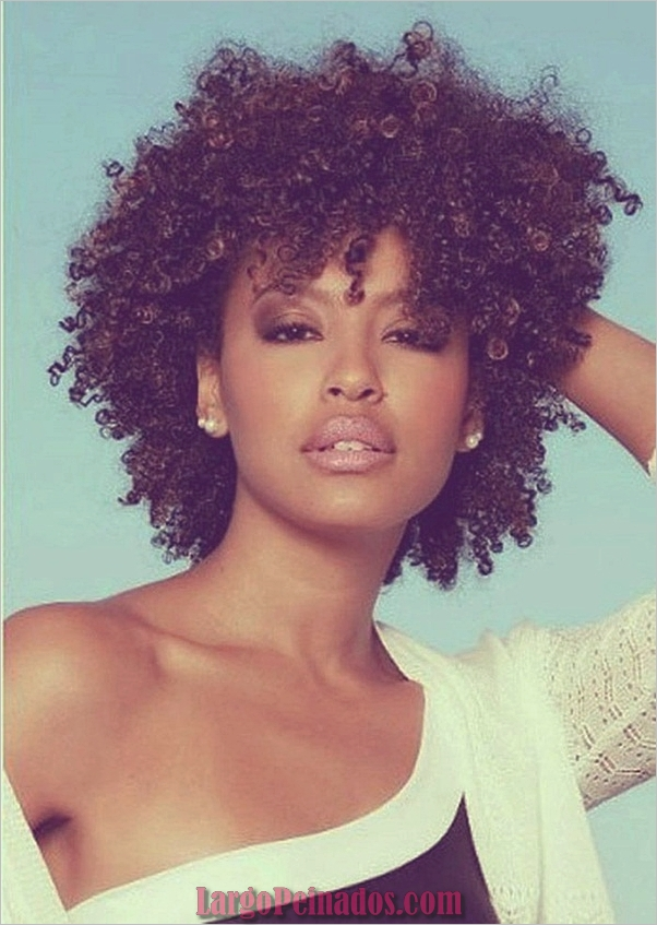 Peinados Rizados Cortos para Mujer Negra (11)