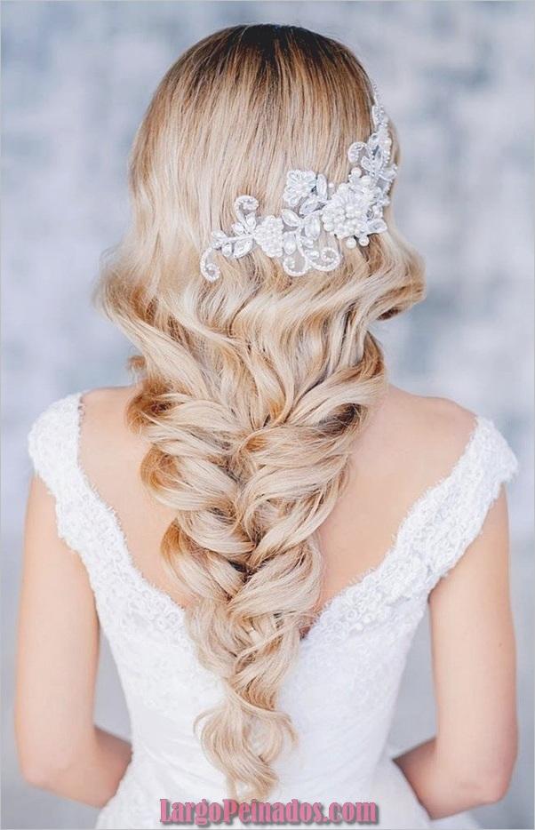 Peinados de novia para cabello largo y corto17