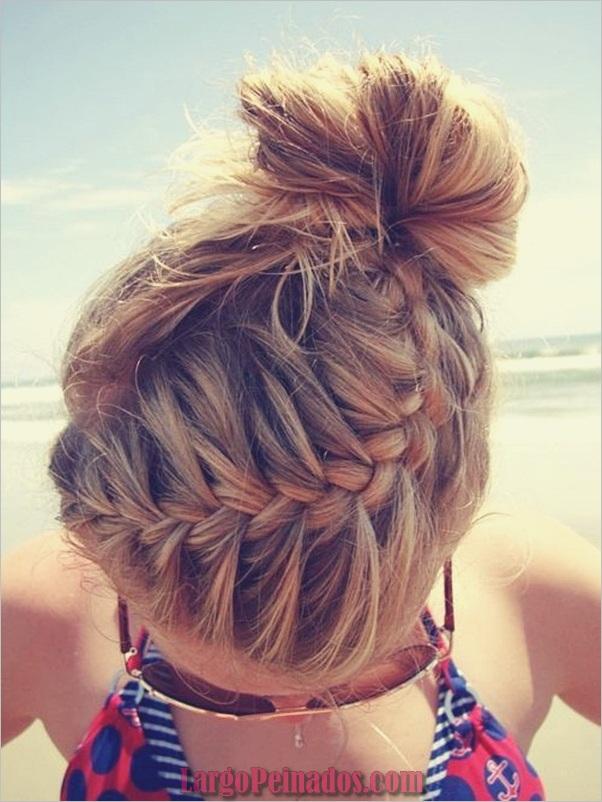 Peinados trenzados simples para cabello largo (13)