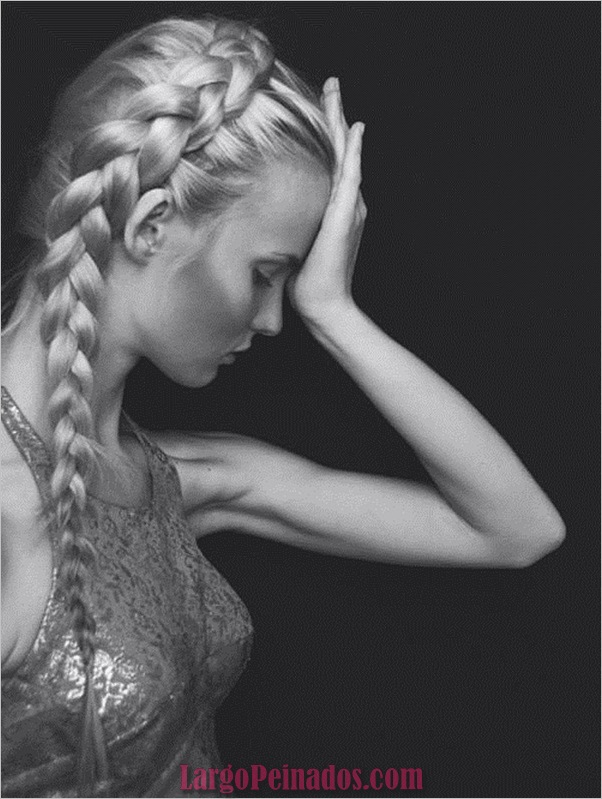 Peinados trenzados simples para cabello largo (4)