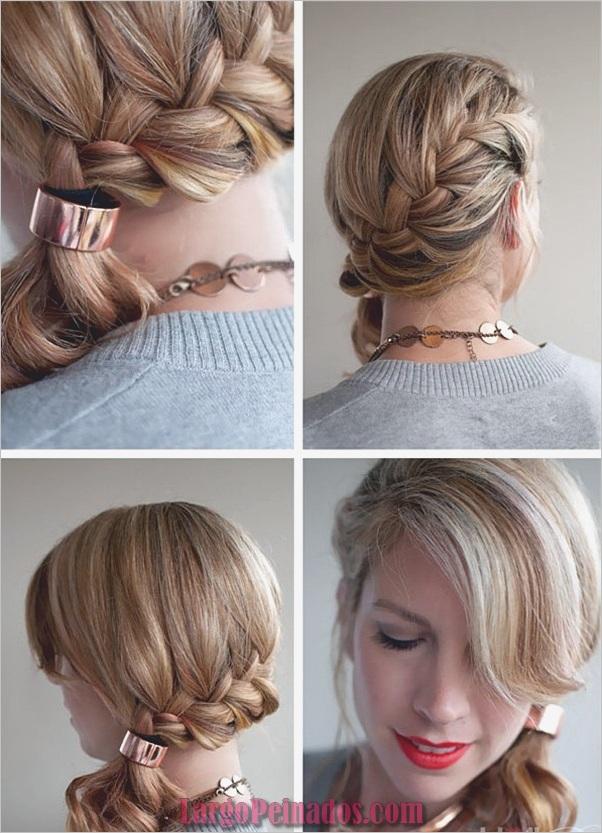 Peinados de cola de caballo laterales atractivos para niñas (7)