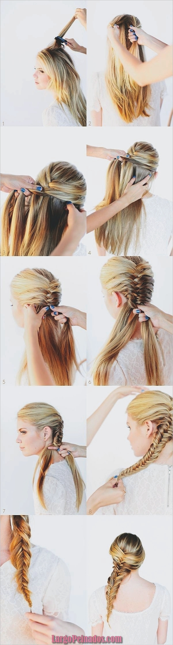 Peinados fáciles paso a paso para cabello largo1