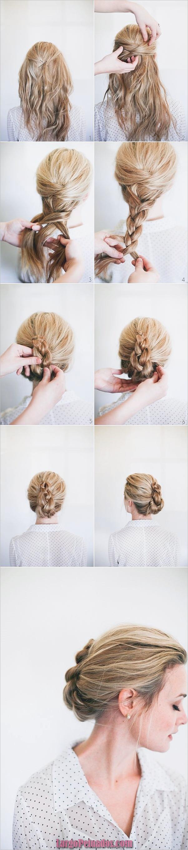 Peinados fáciles paso a paso para cabello largo12