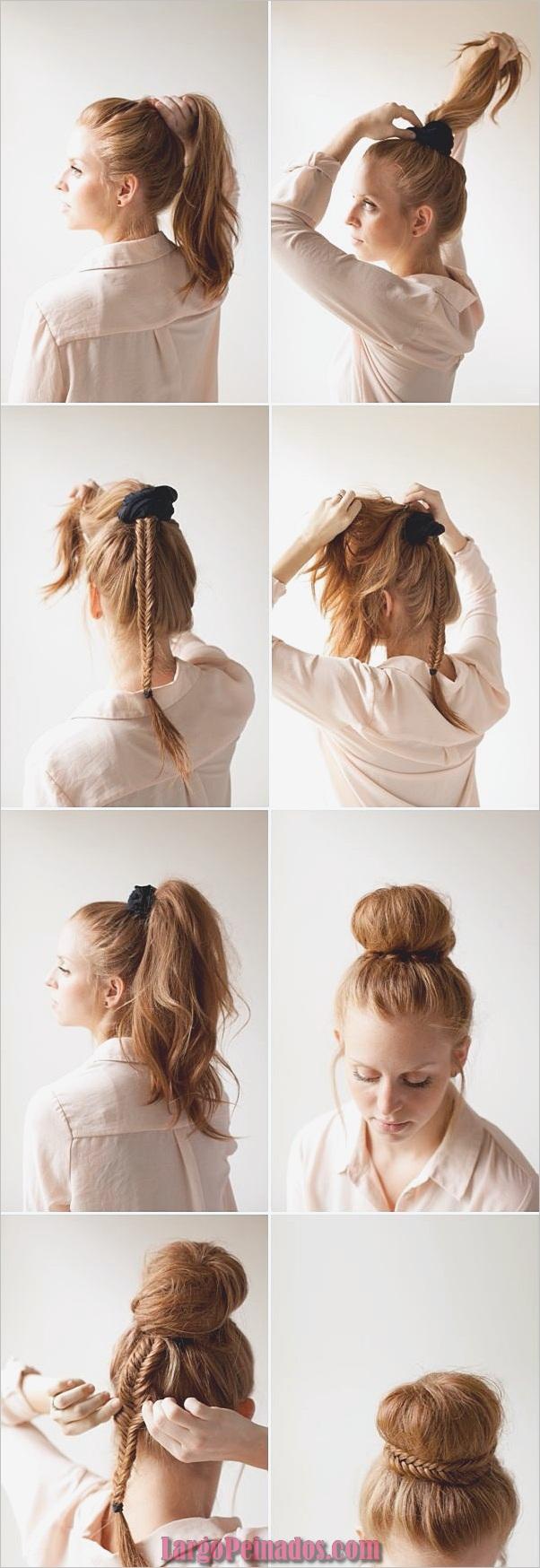Peinados de Bollo Fácil para Mujeres (5)