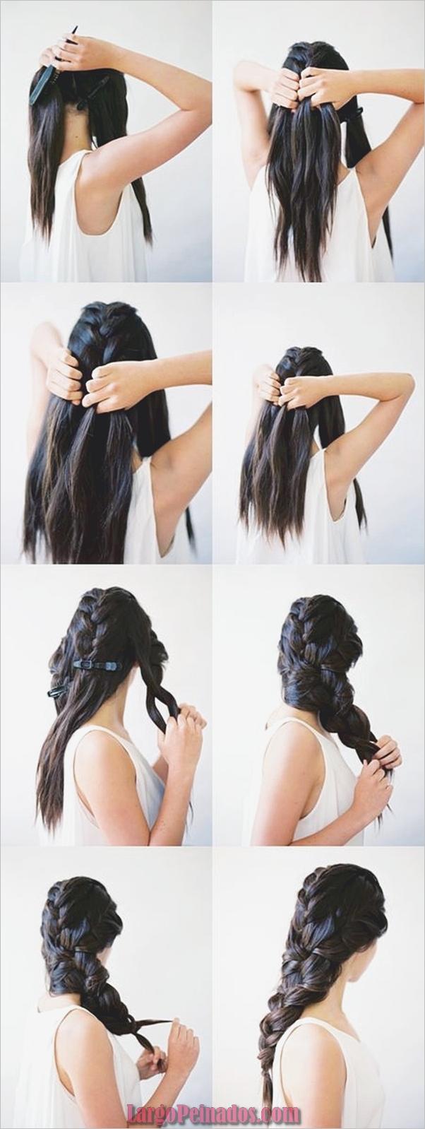 Peinados fáciles paso a paso para cabello largo8