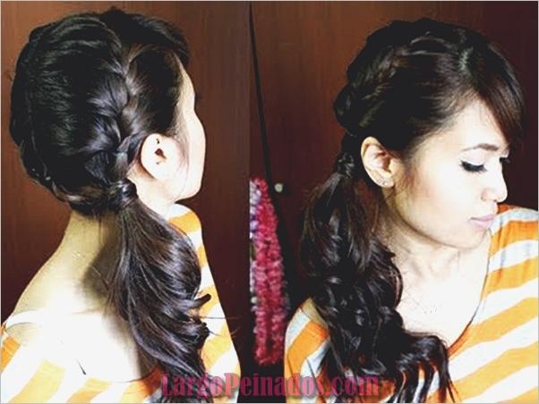 Peinados de cola de caballo laterales atractivos para niñas (12)