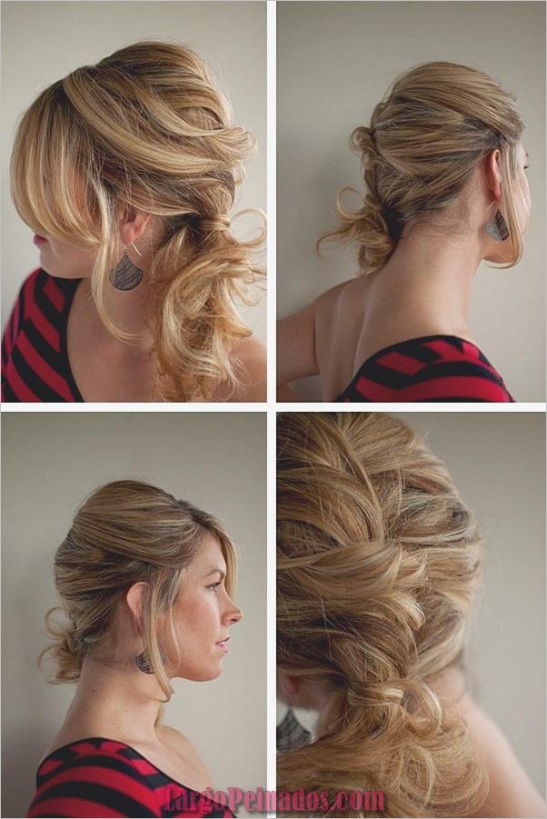 Peinados de cola de caballo laterales atractivos para niñas (14)